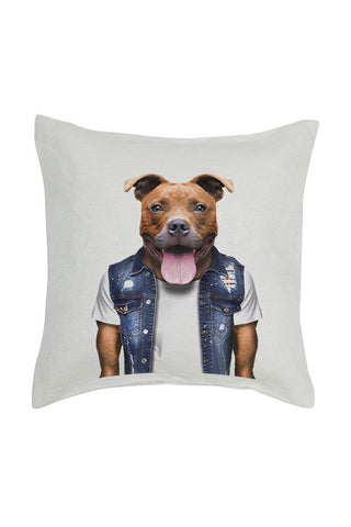 Staffy Cushion Cover - Linen
