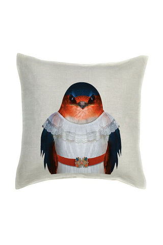 Swallow Cushion Cover - Linen