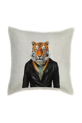 Tiger Cushion Cover - Linen