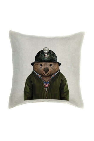 Wombat Cushion Cover - Linen