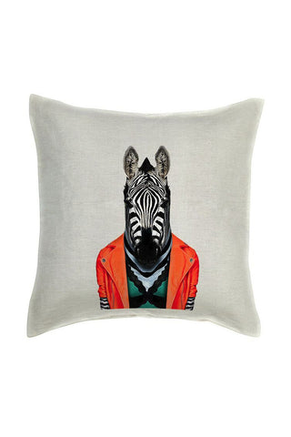 Zebra Cushion Cover - Linen