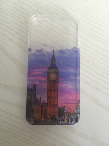 iPhone 5/5s/SE Slikovni silikonski etui - London