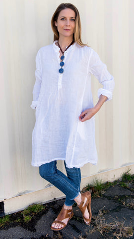 CP Shades Spring Handkerchief Linen Jasmine Tunic Dress