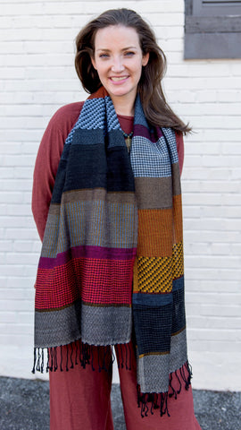 Darsie Mixed Stripe Scarf