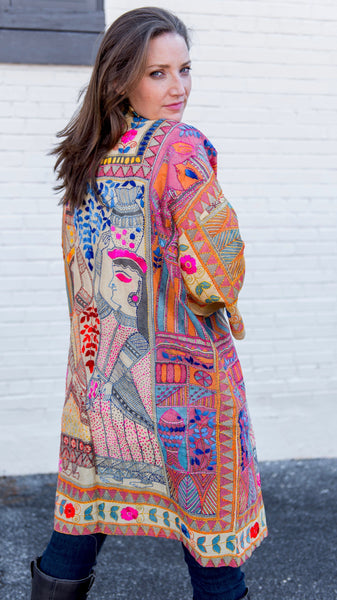 Heritage Embroidered Silk Jacket