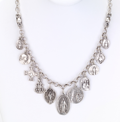 Religious Charm on Chain Necklace