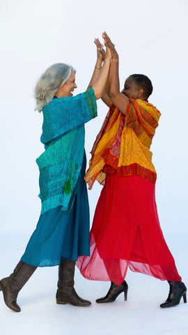 Recycled Silk Caftan Style