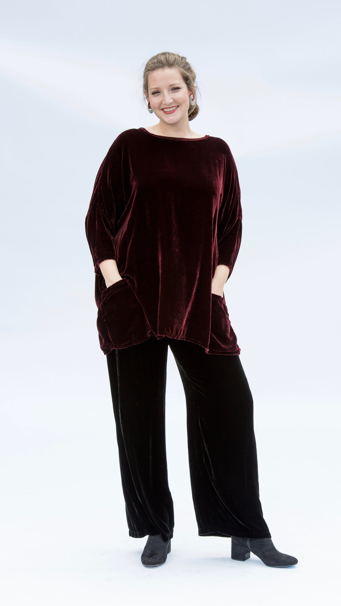 READY COLLECTION Velvet Palazzo Pant