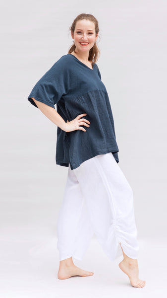 Spring Linen Ruched Pant