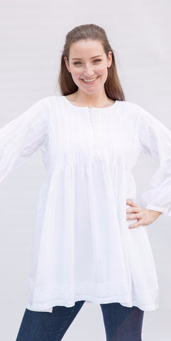 Multi-Button Heritage Kurti Tunic