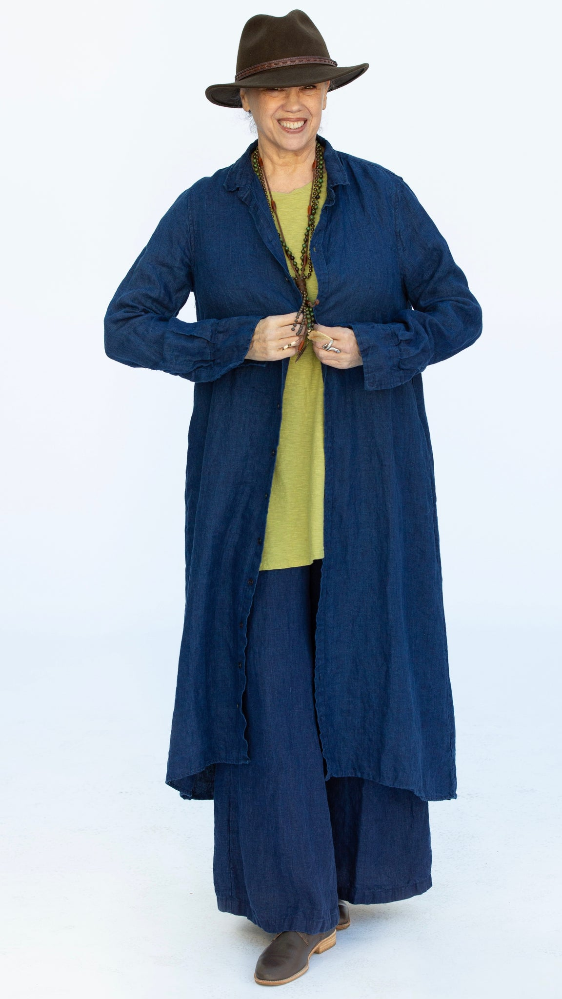 CP Shades Maxi Dress in Indigo Linen