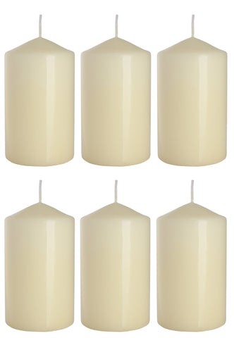 Pillar Candles in Ivory 70/120 set of 6