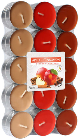 Apple Cinnamon Tea Lights 30 Pack