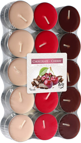 Chocolate - Cherry Tea Lights 30 Pack
