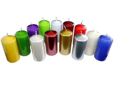 Coloured Pillar Candles