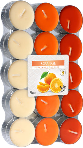 Orange Tea Lights 30 Pack