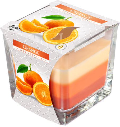Orange 3 Colours Candle