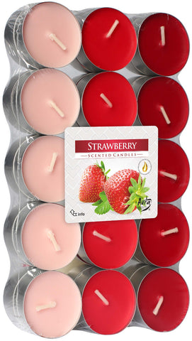 Strawberry Tea Lights 30 Pack