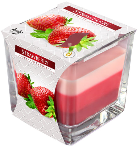 Strawberry 3 Colours Candle