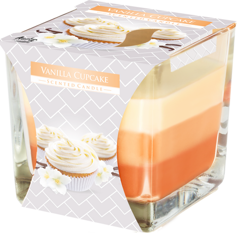 Vanilla Cupcake 3 Colours Candle