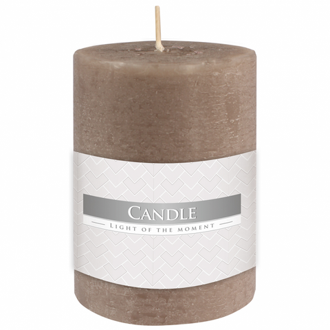 Rustic Pillar Candle in Grey 70/100