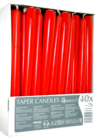 Red Taper Candles 4 Catering