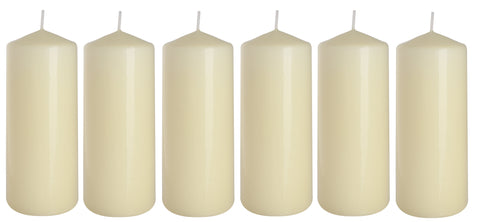 Pillar Candles in Ivory 60/150 set of 6