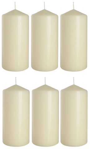 Pillar Candles in Ivory 70/150 set of 6