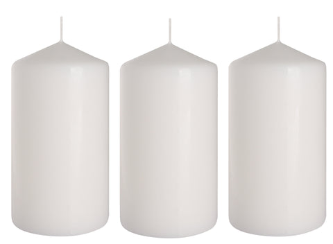 Pillar Candles in White 80/150 set of 3