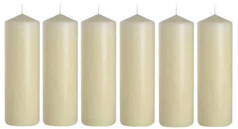 Pillar Candles in Ivory 80/200 set of 6