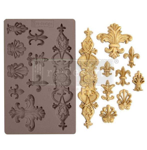 Fleur De Lis - Prima ReDesign Mould - Renaissance Lady - Connie S. Hill