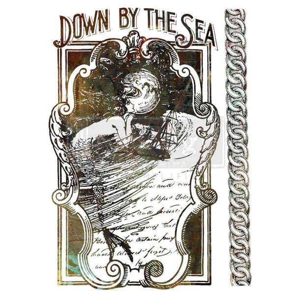 Down By The Sea - Prima ReDesign Decor Transfer - Renaissance Lady - Connie S. Hill