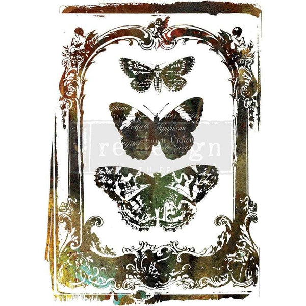 Butterfly Frame - Prima ReDesign Decor Transfer - Renaissance Lady - Connie S. Hill