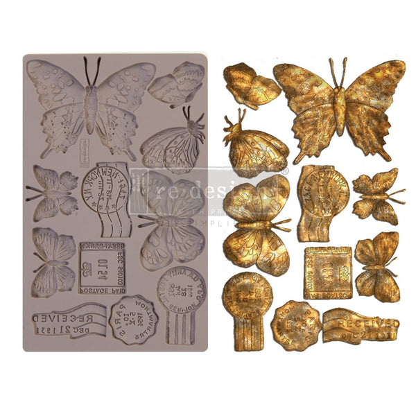 Butterfly In Flight - Prima ReDesign Mould - Renaissance Lady - Connie S. Hill