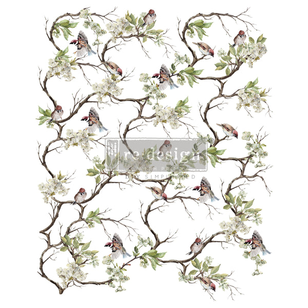 Blossom Flight - Prima ReDesign Decor Transfer - Renaissance Lady - Connie S. Hill