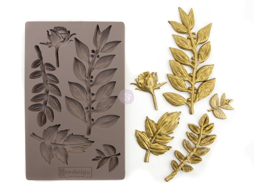 Leafy Blossoms - Prima ReDesign Mould