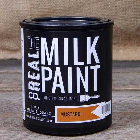 12 Mustard Real Milk Paint