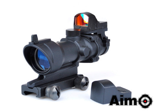 Element AIM-O ACOG 4×32 Scope + Mini Reddot (Black)