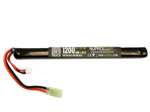 Nuprol 7.4v 1200mah 20c Stick Battery
