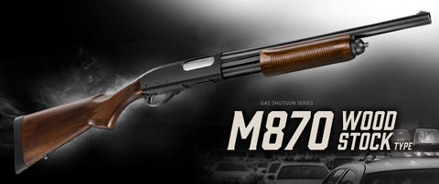 Marui M870 Shotgun Wood Stock