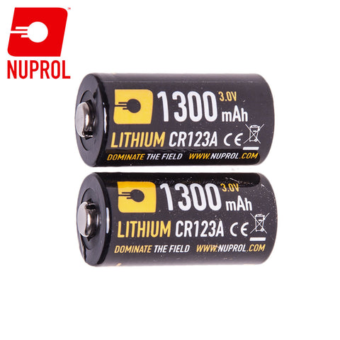 Nuprol CR123A Battery Twin Pack