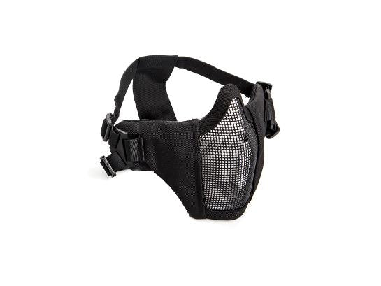 ASG Lower Metal Mesh Mask with Cheek Pads - Black