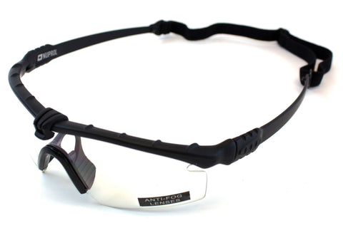 Nuprol Battle Pro Eye Protection Clear Lense/Black Frame