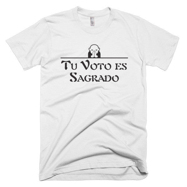 Tu Voto Es Sagrado Spanish Men's T-shirt