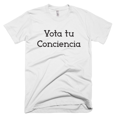 Vota Tu Conciencia Spanish Men's T-shirt