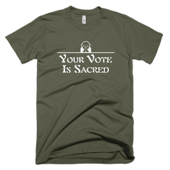 Sacred Vote Men's T-shirt DARK