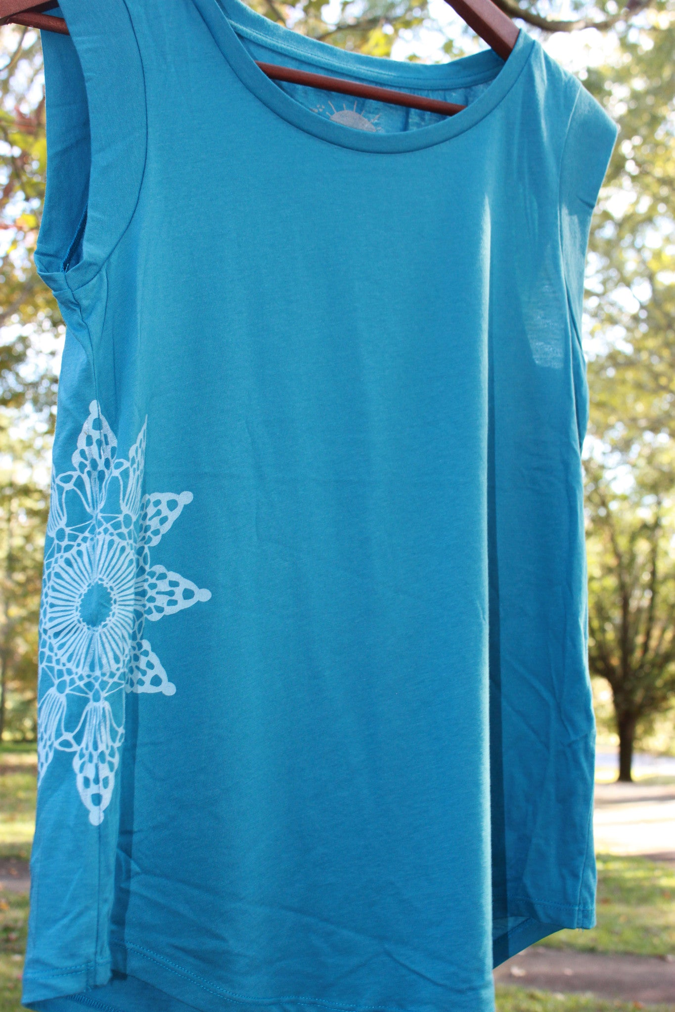 sunshine on the side womens cap sleeve crew