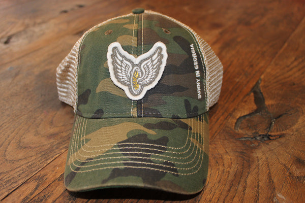"SUNNY IN GEORGIA ""flying wheel"" Trucker Hat"