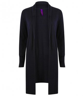 Henbury Ladies Long Line Open Cardigan (garment & printing / H719)