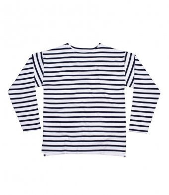 One By Mantis Unisex Long Sleeve Breton Stripe T-Shirt (garment & printing / M136)